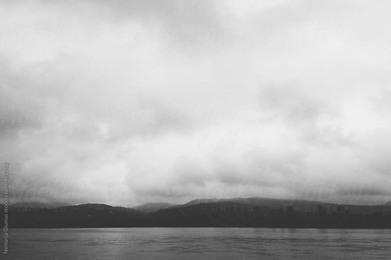 Misty and Cloudy Morning on Danube in Novi Sad, Serbia by Nemanja Glumac for Stocksy United