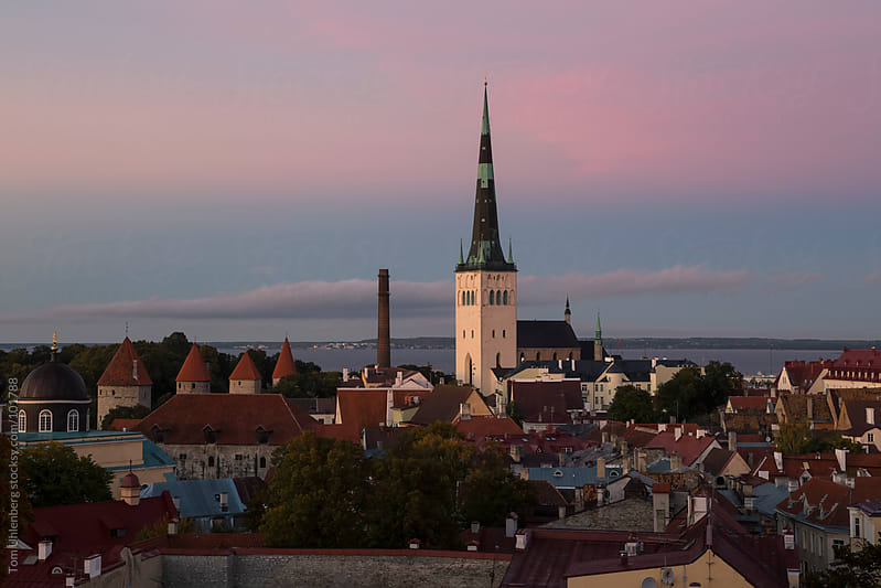 Panorama of Tallinn, Estonia by Tom Uhlenberg for Stocksy United