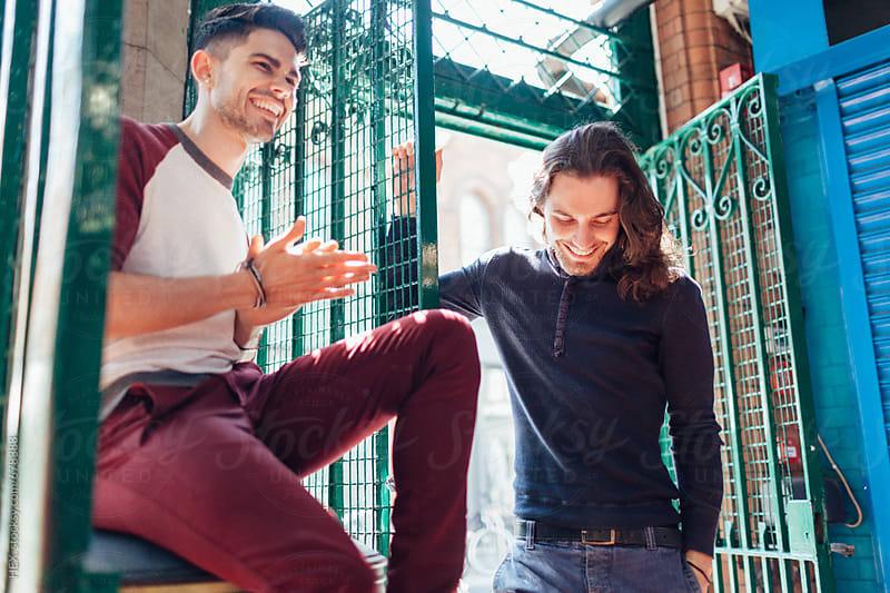 Male Best Friends Having Fun by HEX . for Stocksy United