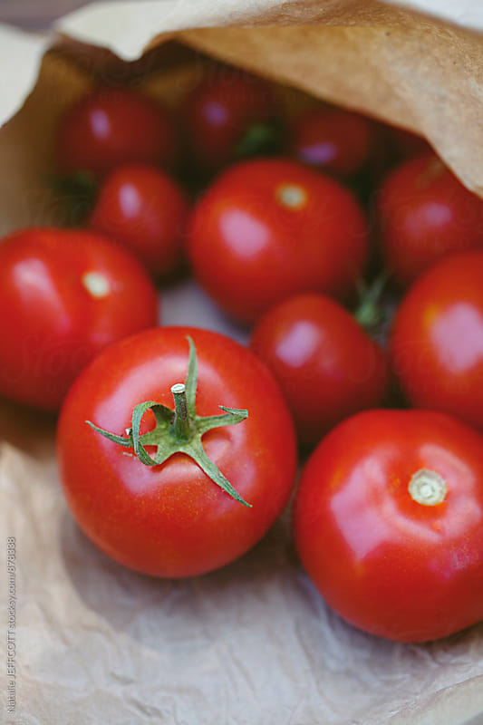 Home grown organic tomatoes by Natalie JEFFCOTT for Stocksy United