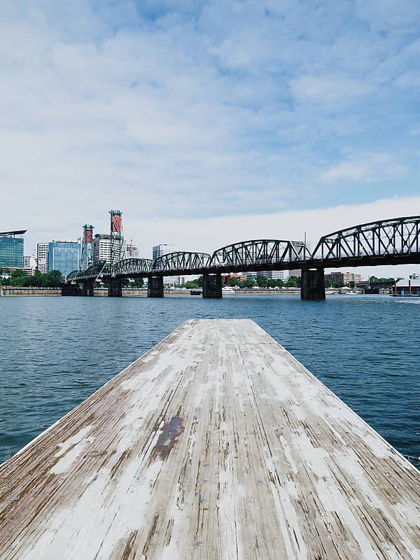 Pier Overlooking City Waterfront by B. Harvey for Stocksy United