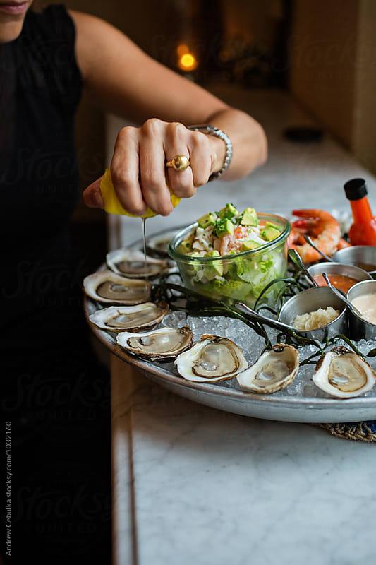 Shellfish Platter by Andrew Cebulka for Stocksy United