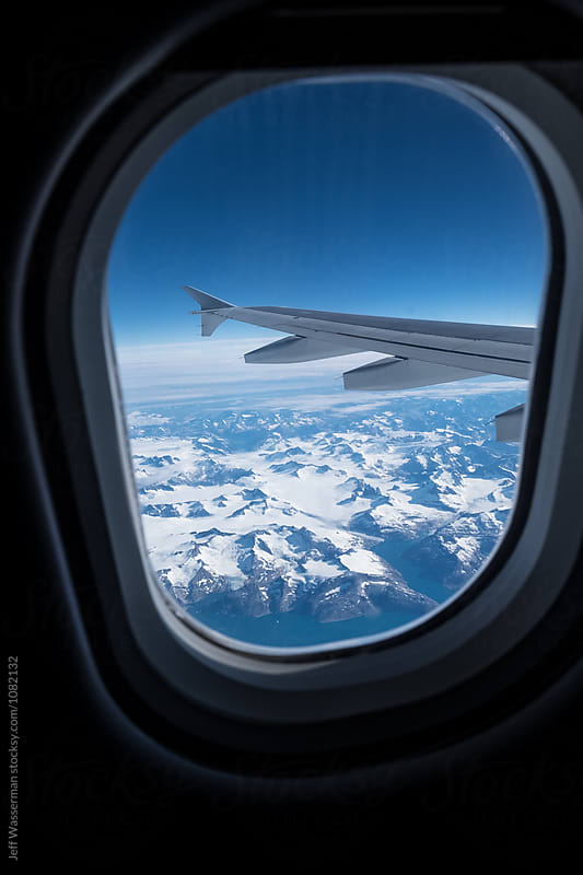 Aerial View of Greenland from Airplane Window by Studio Six for Stocksy United