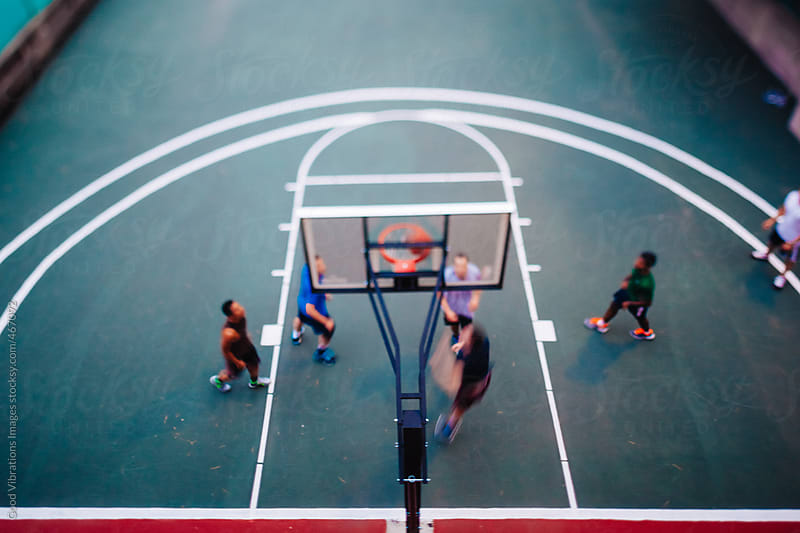 People Playing Basketball by Good Vibrations Images for Stocksy United