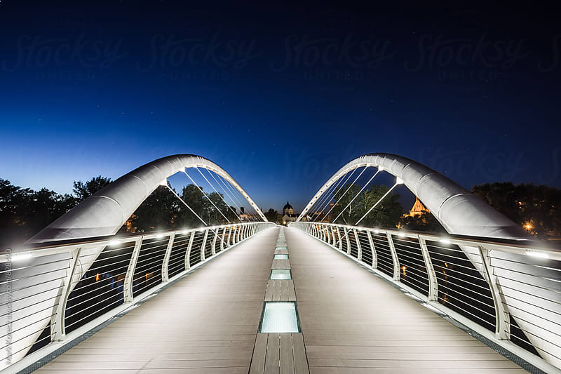 Bridge in blue hour by Mark Korecz for Stocksy United
