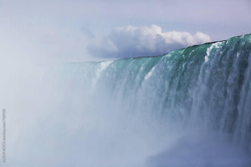 Close Up Of Horseshoe Falls On A Summer Afternoon by ALICIA BOCK for Stocksy United
