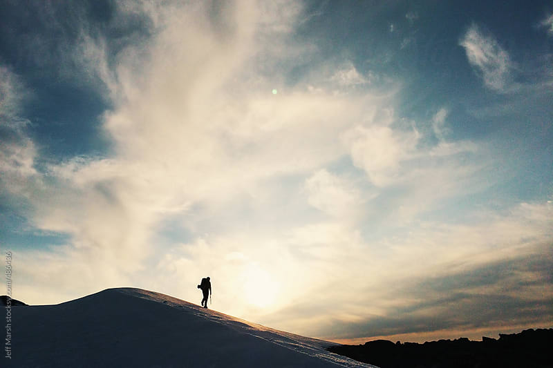 Hiking a ridge by Jeff Marsh for Stocksy United