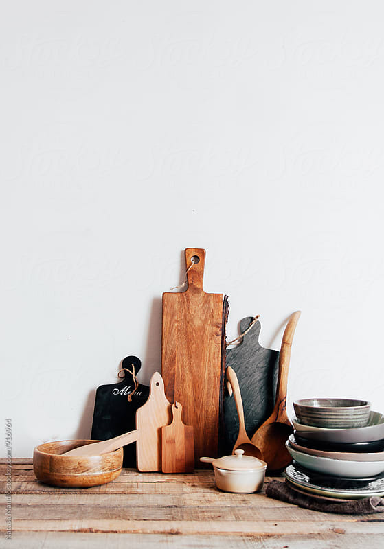 Kitchen utensils and dishes by Nataša Mandić for Stocksy United