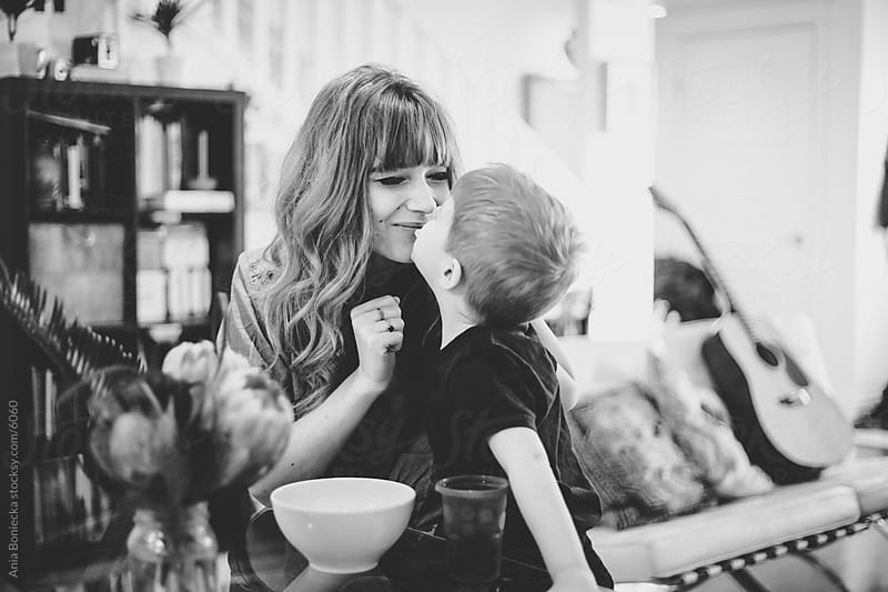 Mother and son snack time by Ania Boniecka for Stocksy United
