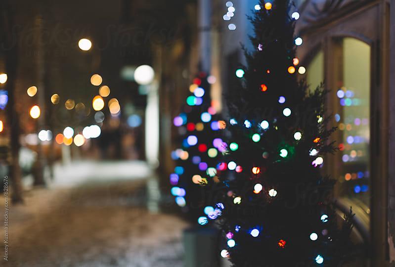 Christmas lights by Vesna for Stocksy United
