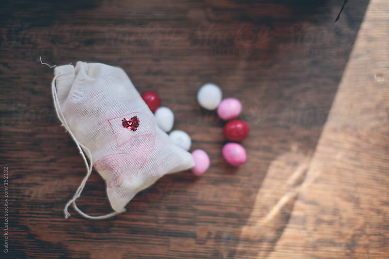 Bag of Valentine's Day Candy by Gabrielle Lutze for Stocksy United