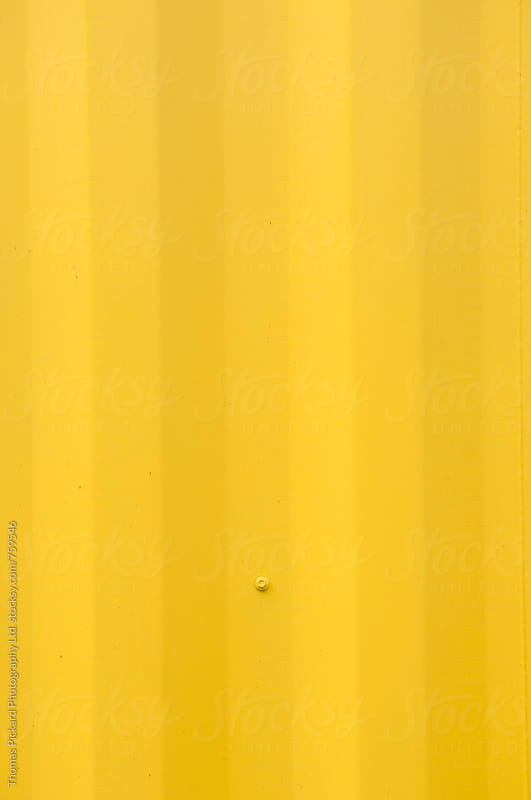 Yellow shipping container, Christchurch, New Zealand. by Thomas Pickard for Stocksy United