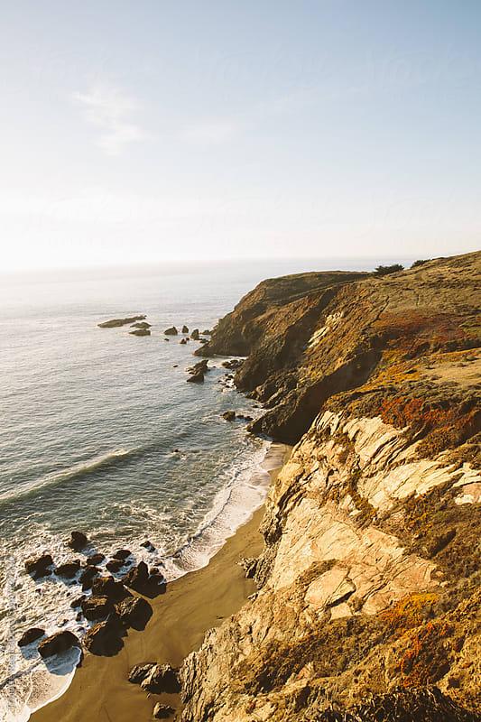 Pacific ocean coastline near San Francisco, California by Trinette Reed for Stocksy United