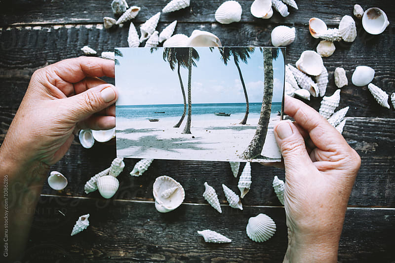 hand holding a photograph by Giada Canu for Stocksy United
