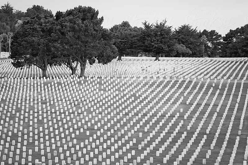 National Military cemetery by Thomas Hawk for Stocksy United