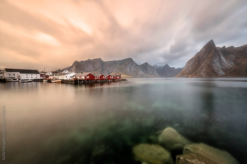 sunset at Lofoten, Norway. by Guille Faingold for Stocksy United