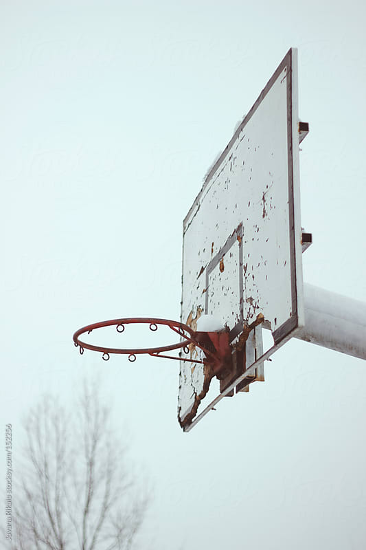 Old basketball hoop by Jovana Rikalo for Stocksy United