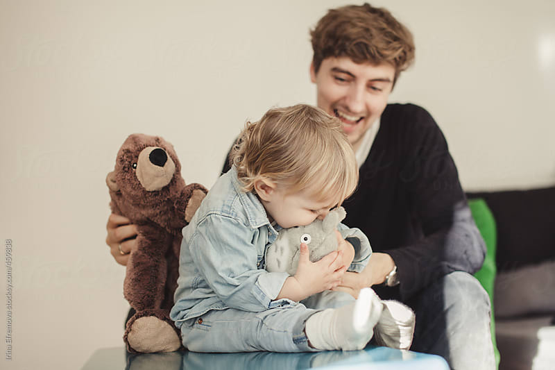 Bear, father and the son by Irina Efremova for Stocksy United
