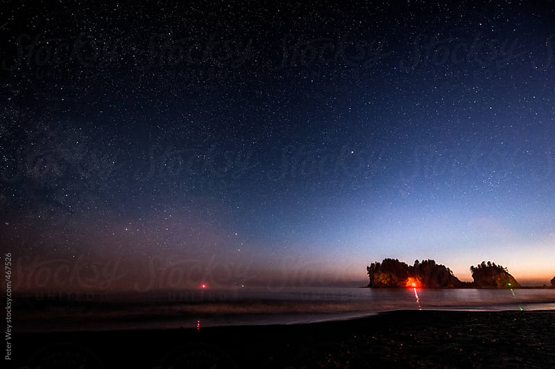 Nightscape at La Push by Peter Wey for Stocksy United