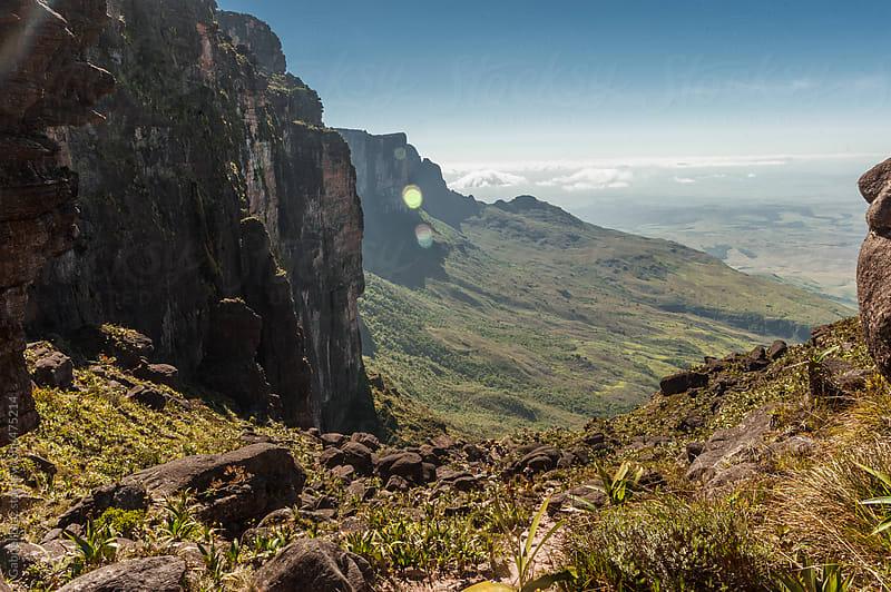 View from the plateau Roraima to Gran Sabana region - Venezuela, South America by Gabriel Diaz for Stocksy United