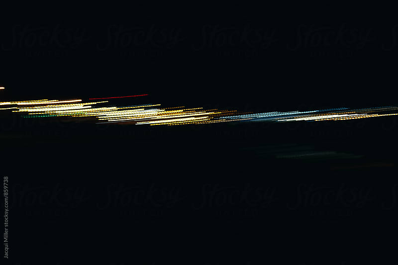 Abstract minimalist light art - lines on black 1 by Jacqui Miller for Stocksy United