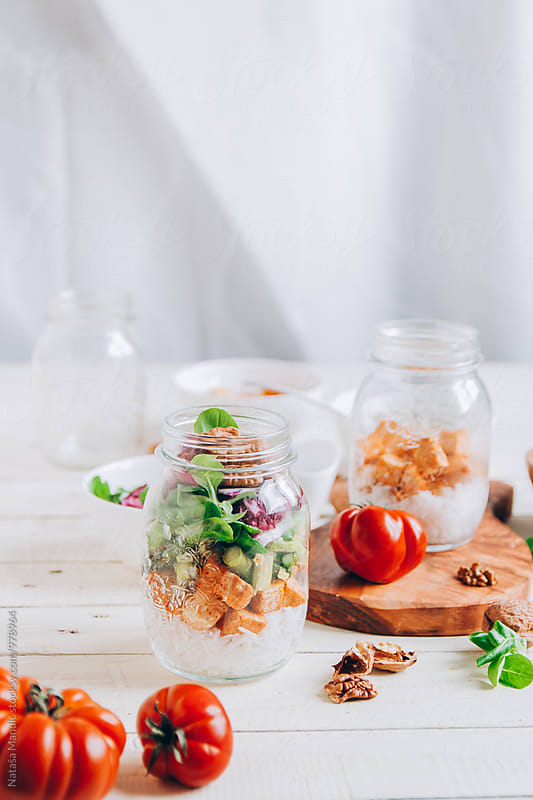 Mason Jar Salad by Nataša Mandić for Stocksy United