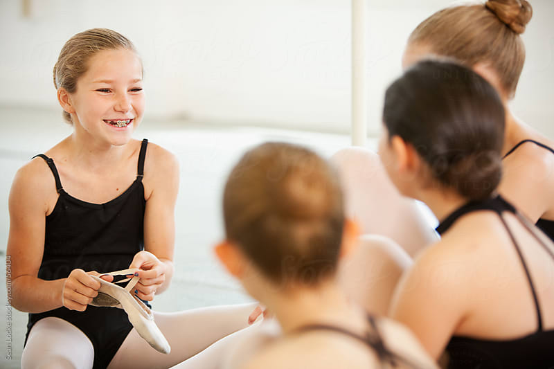 Ballet: Girls Getting Ready for Dance Class by Sean Locke for Stocksy United