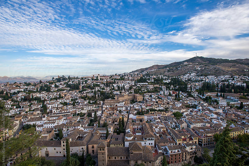 Granada in Southern Spain shot from above. by Mike Marlowe for Stocksy United