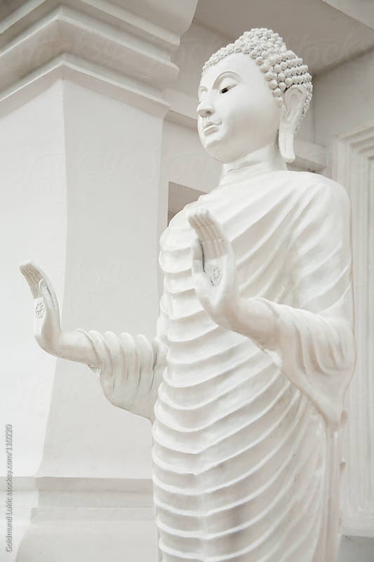 White Buddha Statue by Goldmund Lukic for Stocksy United