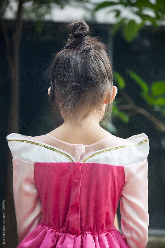 pink dress by jira Saki for Stocksy United