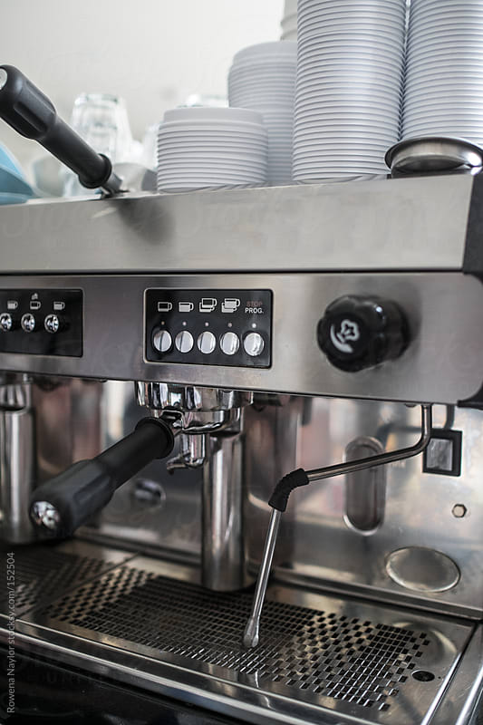 Commercial Coffee Machine by Rowena Naylor for Stocksy United
