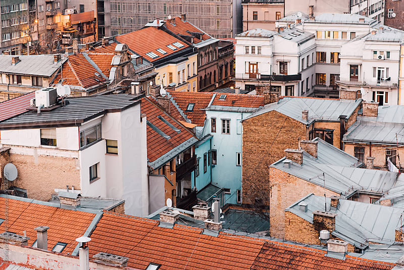 Buildings and rooftops in Sarajevo, capital of Bosnia and Herzegovina by Boris Jovanovic for Stocksy United