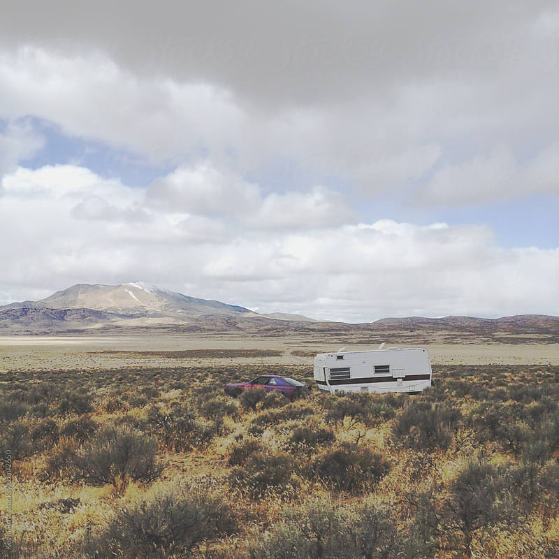 Trailer Public Land Camping by Kevin Russ for Stocksy United