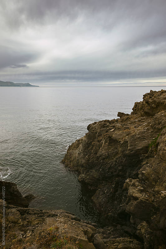 Views of the sea from a cliff. by BONNINSTUDIO for Stocksy United