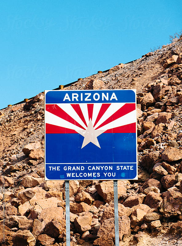 Arizona sign by Good Vibrations Images for Stocksy United