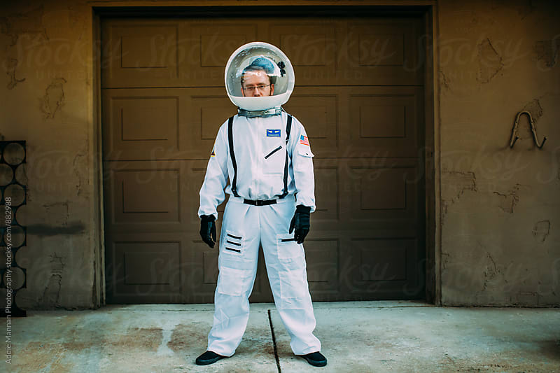 Suburban Astronaut  by Addie Mannan Photography for Stocksy United