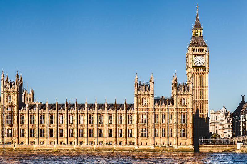 Big Ben and Palace of Westminster, Gothic Revival Architecture in London by Giorgio Magini for Stocksy United
