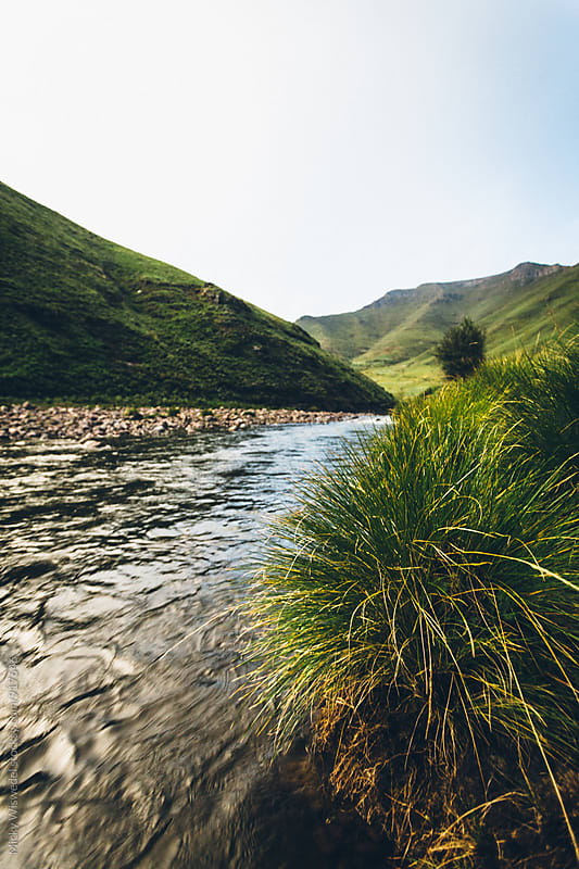 landscape of the Bokong River in Lesotho by Micky Wiswedel for Stocksy United