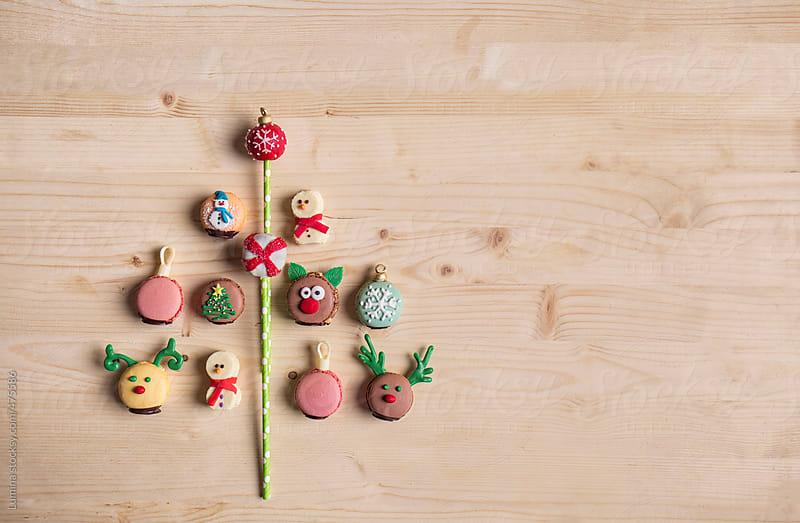 Christmas Tree Made of Macarons by Lumina for Stocksy United