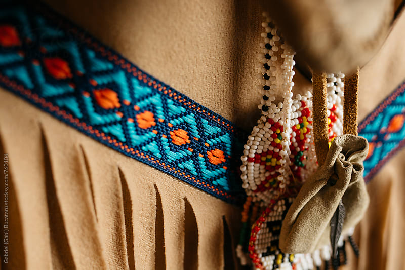 Fringes on a native indian tunic by Gabriel (Gabi) Bucataru for Stocksy United