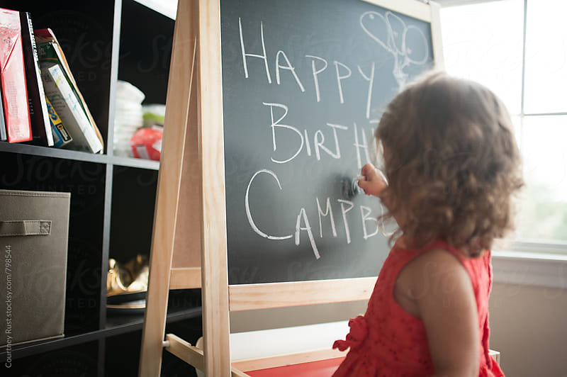 Happy Birthday Chalkboard by Courtney Rust for Stocksy United