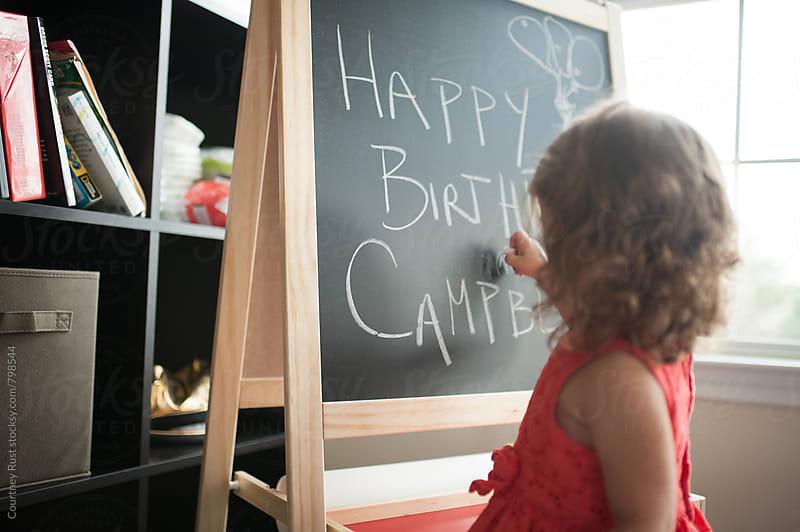Happy Birthday Chalkboard by Courtney Rust for Stocksy United