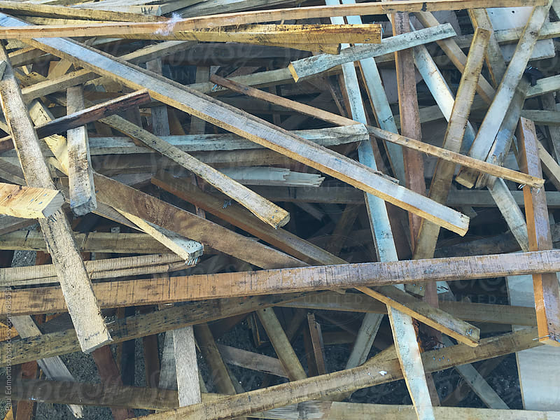 Discarded pile of scrap lumber by Paul Edmondson for Stocksy United