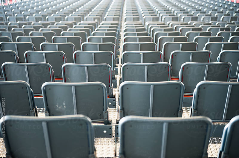 Empty seats / tier in stadium  by Urs Siedentop & Co for Stocksy United