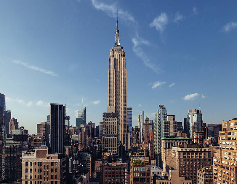 Manhattan Skyline in a Summer Day by VICTOR TORRES for Stocksy United