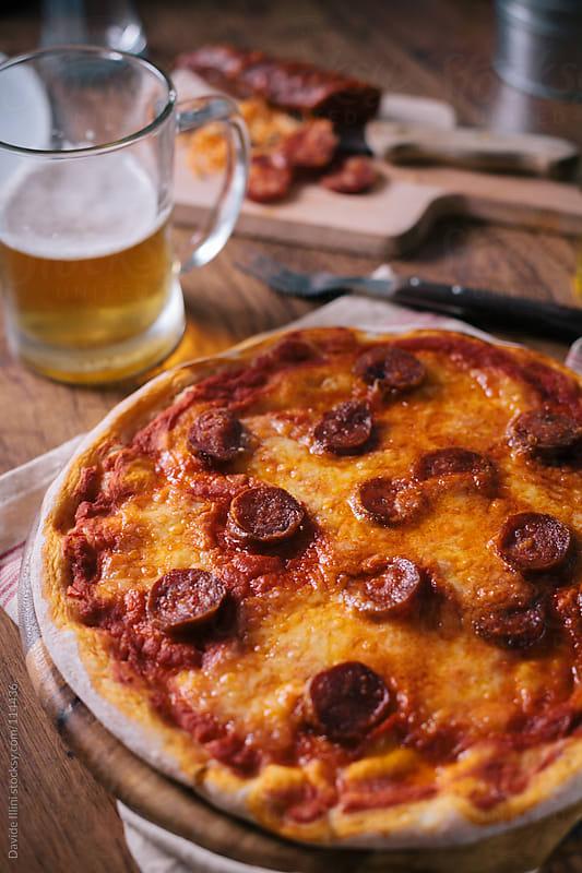 Pepperoni pizza by Davide Illini for Stocksy United
