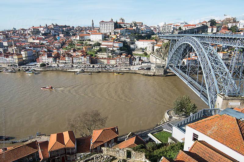 Oporto & Dom Luis I Bridge by Bisual Studio for Stocksy United
