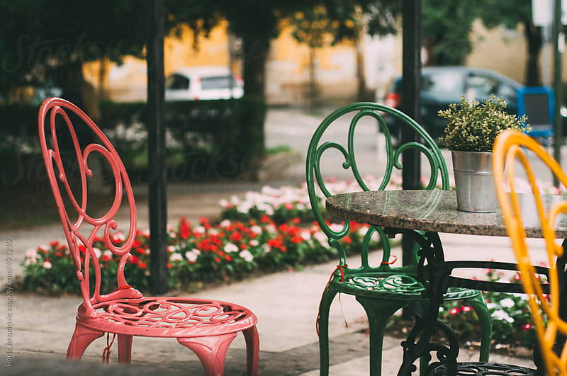 Colorful chairs by Boris Jovanovic for Stocksy United