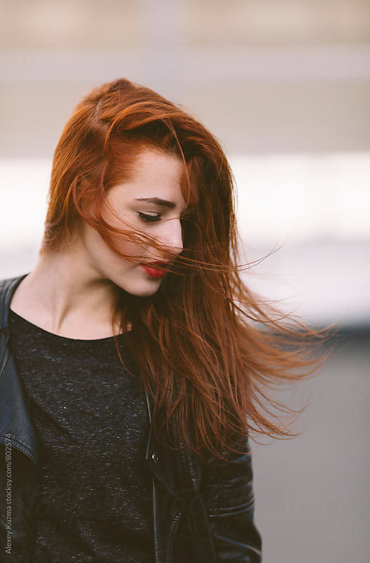 Happy young woman with red hair by Vesna for Stocksy United