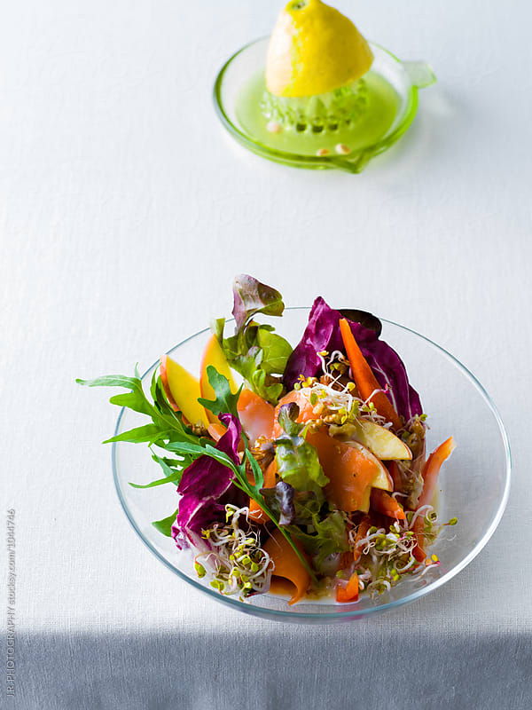 Salad with smoked salmon by J.R. PHOTOGRAPHY for Stocksy United